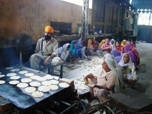 The chapati conveyor belt
