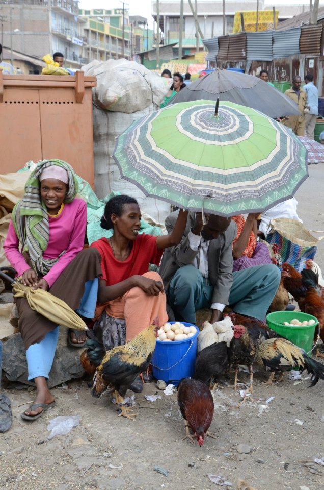 Chicken Sellers in Gondar