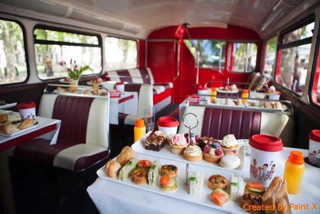 All Aboard the Afternoon Tea Bus