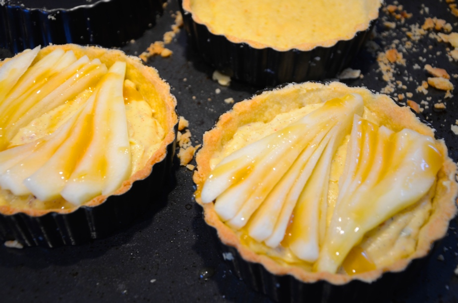 Weekend bake: Pear, vanilla and thyme shortbread tartlets